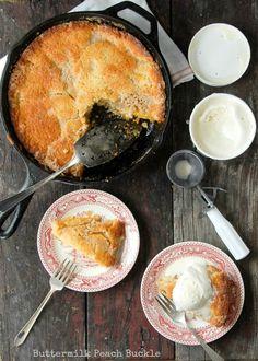 Buttermilk Peach Buckle- BoulderLocavore #glutenfree