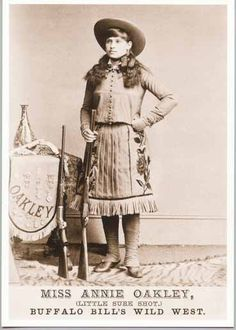 Annie Oakley, America's little sure shot.