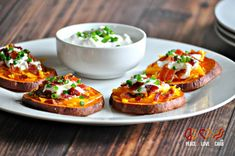Loaded Sweet Potato Bites - Peace, Love and Low Carb