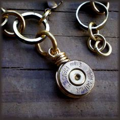 Wire wrapped bullet casing .... I like this, but have no idea where to get casings from ....