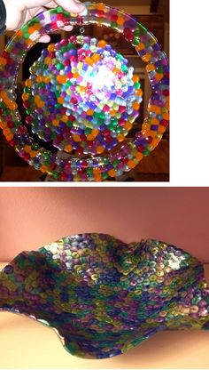 great craft idea for kids this summer.  plastice beads in oven at 400 for 25 minutes. great summer project must try! :: ecrafty