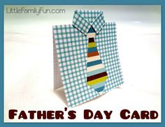 Little Family Fun: Easy Fathers Day Card