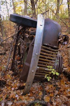 Abandoned vehicle in Maine