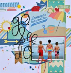 Go See Do Simple Stories - Scrapbook.com - Summer Paradise SImple Set