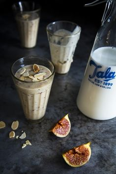 fig, oat + banana smoothie • sips and spoonfuls