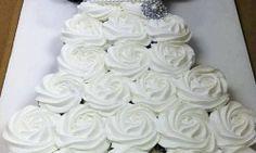 Cupcake Wedding Dress Cake Tutorial