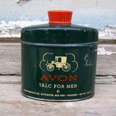 Vintage Avon Talc For Men Tin