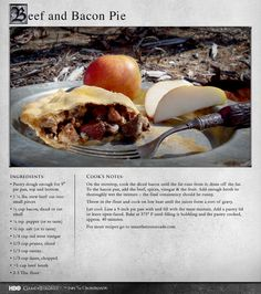 """""""The savory modern pie was more what we imagined when we read about beef-and-bacon pies of Winterfell."""" MORE RECIPES: http://itsh.bo/LQC1sC #bacon #pie #gameofthrones #food"""