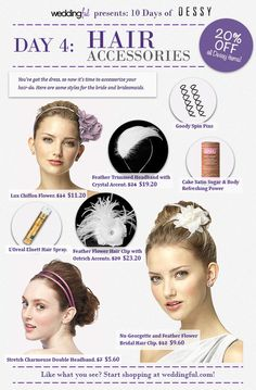 10 Days of Dessy: Day 4 - Hair Accessories - Wedding advice for the modern bride