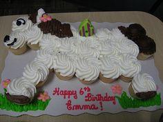 Horse cupcake birthday cake by weborican, via Flickr