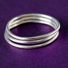 Sterling Silver Stacking Ring -