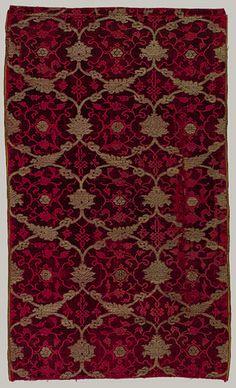 15th century extant velvet