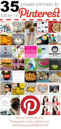 35 Pinners To Follow On Pinterest