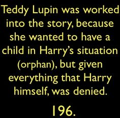 Harry Potter Facts - harry-potter Photo Hermione Ron Weasly Snape facts funny lupin teddy remus orphan dumbledoor