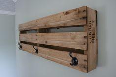 Pallet Wall Mount Coat Rack. $55.00, via Etsy.