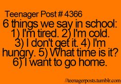 I say all of these at least 4 million times a day (:
