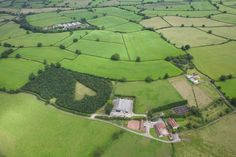 A heart-shaped meadow, created by farmer Winston Howes as a tribute to his late wife, can be seen from the air near Wickwar, South Gloucestershire. The point of the heart points towards Wotton Hill, where his wife was born.