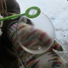 Freezing Bubbles Science Experiment