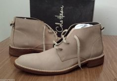 Cole Haan men size 11 leather ankle Chukka boots  #ColeHaan #AnkleBoots