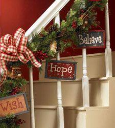 Tableritos con Mensajes navideños para decorar guirnalda de navidad. #DecoracionNavidad