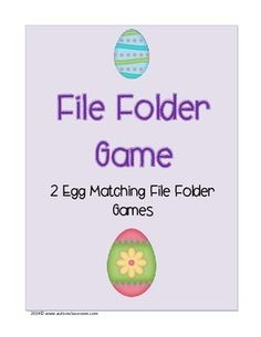 These Egg Hunt File Folder Games includes a cover page and an image for the tab of your file folders. This product has 2 file folder games for students to match with colorful eggs. #spring