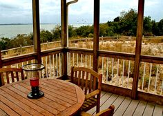 The Porch of the Cottages at Indian River Marina