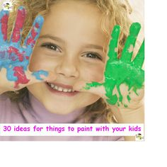 Ever at a lost for subjects for paintings?  Here's 30 ideas for things to paint with your kids. Perfecto :)