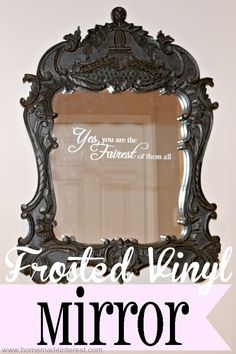 Frosted Vinyl Mirror   Home.Made.Interest.