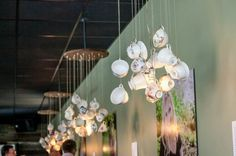 "Tea Cup Chandeliers at Thistle Stop Cafe, Nashville. ""The Healing Power of Love"" Photo Credit: Erin Lee, The Photography Collection"