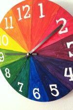 DIY Color Wheel Clock • Artchoo.com color wheels, artroom, diy color