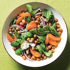 Toasted Chickpea and Apricot Salad | CookingLight.com