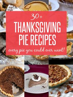 30+ Thanksgiving Pie Recipes