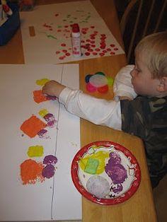 Toddler craft: Shape Truck Stamping