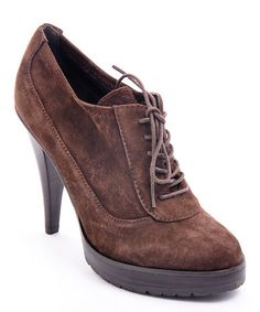 Another great find on #zulily! Brown Suede Mary Bootie #zulilyfinds