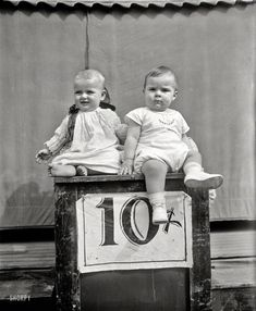 "Washington, D.C. ""Babies -- 1927."" Today only, two for one. Harris & Ewing Collection glass negative."