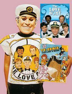 Vintage Captain Stubing Halloween costume.  Late 1970s.