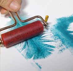 stamp or print with a feather.