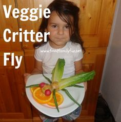 What a fun school activity!  Food, Family, Fun.: Budding Chef Competition - Vegetable Critters