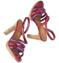 """FOREVER selected by Paula Abdul Exotic Print Strappy Heel  SALE $34.99 Faux-snakeskin upper. Platform, 3/4"""" H. Heel, 4"""" H. Padded footbed. Skid-resistant sole"""