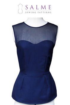 PDF Sewing pattern - Sleeveless yoke top