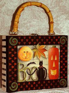 Halloween Sampler Cigar Box Purse ePacket