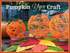 Pumpkin Yarn Craft, simple easy steps with only a few needed supplies