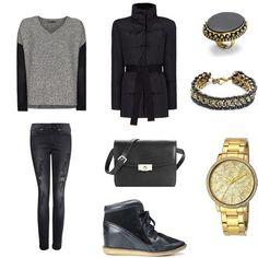 Outfit negro muy cómodo, encuentra más en http://www.1001consejos.com/