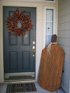 large wooden pumpkin