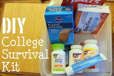 DIY College Survival Kit ~ * THE COUNTRY CHIC COTTAGE (DIY, Home Decor, Crafts, Farmhouse)