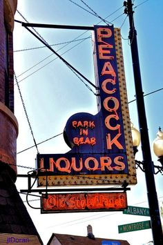 Peacock Liquors ~ Vintage Neon Sign