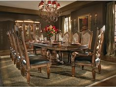 7pc Villa Valencia Dining Room Set by Aico http://www.maxfurniture.com/dining/dining-sets/7pc-villa-valencia-dining-room-set-by-aico.html