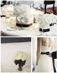Black and White Inspiration #wedding #love #black #white #black #ideas #motif #theme