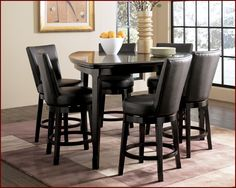 Triangle Counter Height Dining Table - Dining Room - love this table!