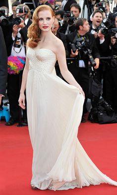 Jessica Chastain in Giorgio Armani at Cannes 2012